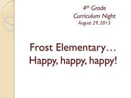 4th Grade Curriculum Night