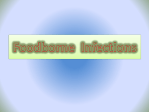 Foodborne Infections