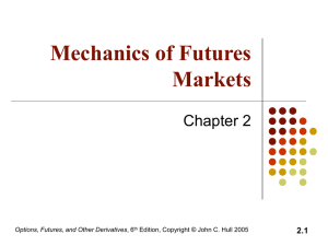 1 Mechanics of Futures Markets