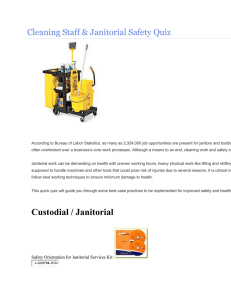 Janitorial Safety Cleaning for Staff