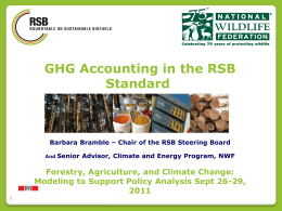 RSB Tool - Forestry and Agriculture Greenhouse Gas Modeling Forum
