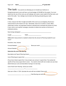 Page of 5 Name 6th grade 2014 The task: Your parents are allowing