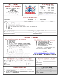 prospective managers and coaches - Cherry Hill Atlantic Little League