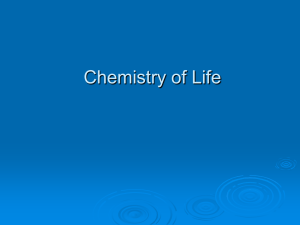Chemistry of Life Post