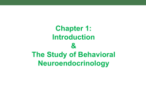 Intro. to Behavioral Endocrinology, Third Edition