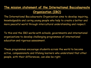 What is the International Baccalaureate Diploma?