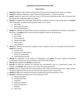 foundations of american government essay Government unit 1: foundations of american government government unit 1: foundations of american government this is not a theory of the origin of the state divine right theory social contract theory  we will write a custom essay sample on government unit 1: foundations.