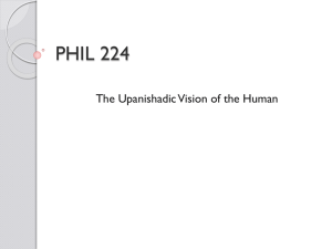 The Upanishadic Vision of the Human
