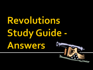 Revolutions Study Guide - Answers