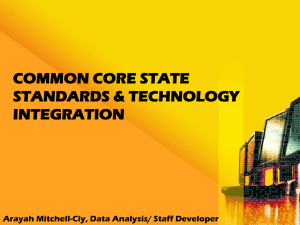 Common Core Technology Integration Presentation