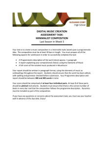 Digital Music Composition Assessement Task and