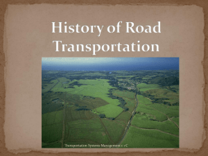 History of Road Transportation