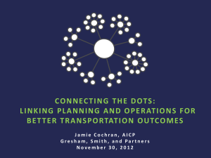 Jamie Cochran -Connecting the Dots: Linking Planning and