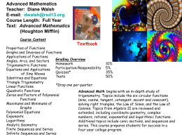 Advanced Mathematics (Houghton Mifflin)