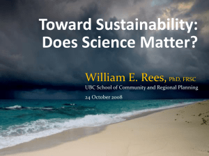 DoesScienceMatter(ReesV1) - Canadians for Action on Climate