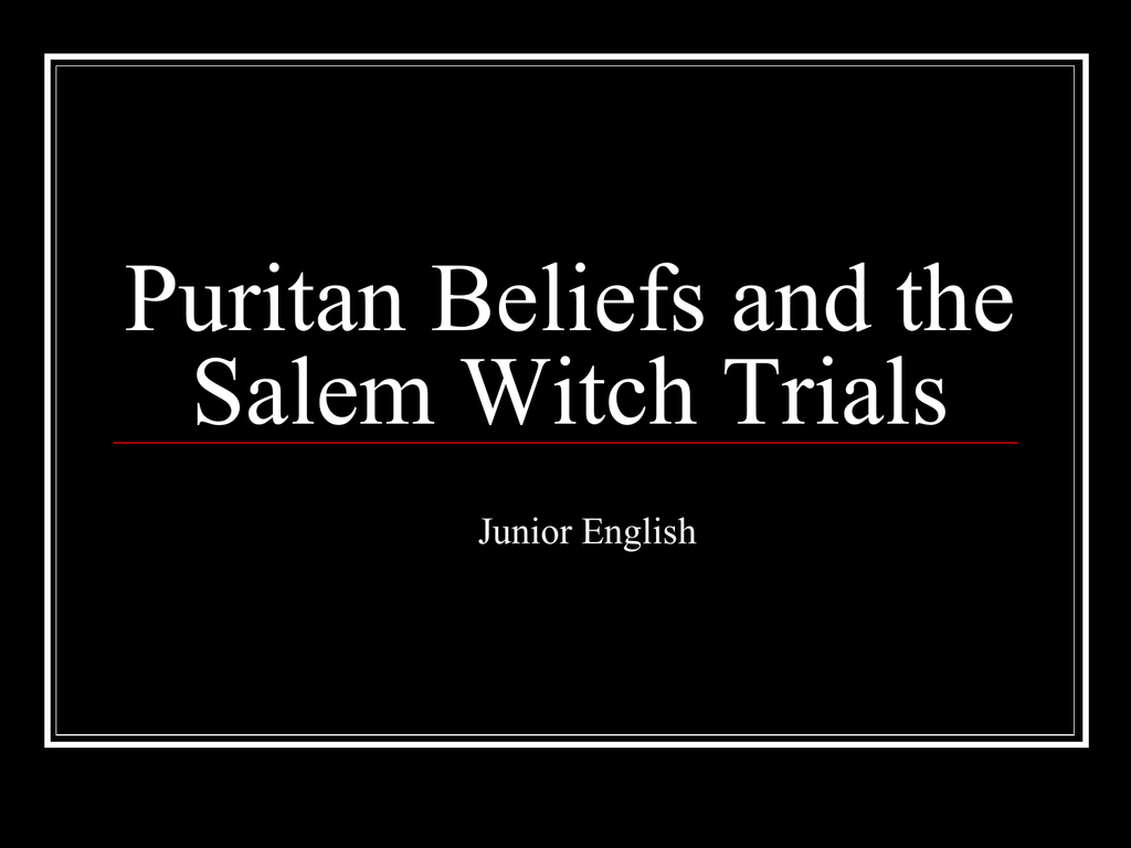 salem possessed Salem possessed essaysthe salem witch hysteria of the 1690's can be prematurely discerned as the result of a deranged society consisting of insane individuals however, paul boyer and.
