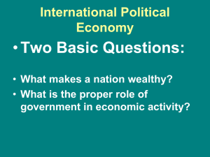 International Political Economy PPT