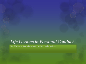 Life Lessons in Leadership - National Association of Health