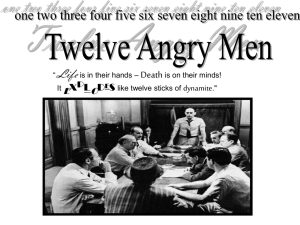 12 Angry Men Intro - student project - Swindells