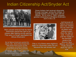 Indian Citizenship Act/Snyder Act