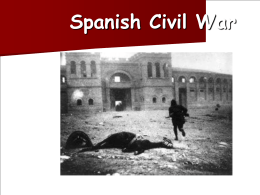 The Falange Espanola: Spanish Fascism