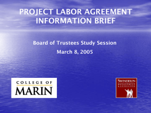 Project Labor Agreements (PLA)