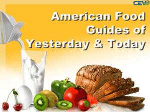 The Dietary Guidelines for Americans 2010