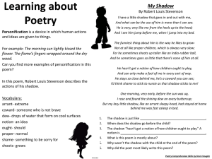 Learning about Poetry Personification