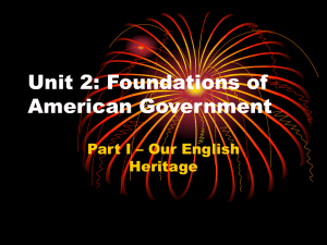 Unit 2: Foundations of American Government