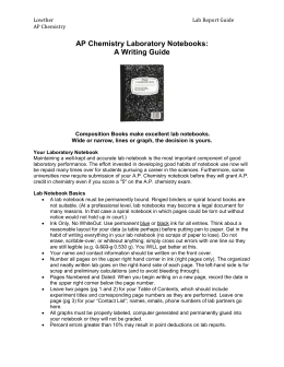Ap chemistry 1999 essay