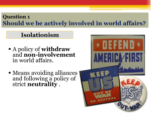 Approaches to Foreign Policy PPT