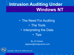 Intrusion Auditing with NTLast