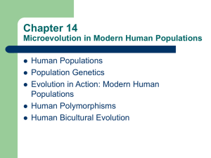 Chapter 12 Microevolution in Modern Human Populations