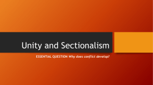 Unity and Sectionalism - Mater Academy Lakes High School