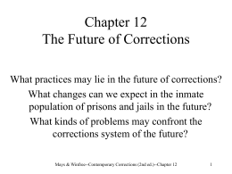 Criminal Justice 230 Introduction to Corrections