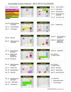 School Calendar - Esmeralda County School District
