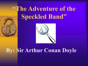 """The Adventure of the Speckled Band"""