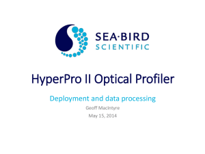 HyperPro II Optical Profiler - Sea