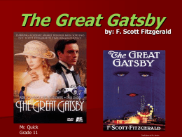 a discussion on the american dream in the book the gatsby Sarah churchwell on why the 'american dream  the great gatsby and the american dream  in the early years of the great depression adams's book sparked a .
