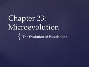 Chapter 23: Microevolution