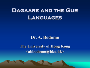 Moore and the Gur Languages - Linguistics @ HKU