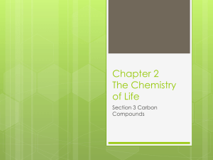 Chapter 2 Carbon Compounds powerpoint