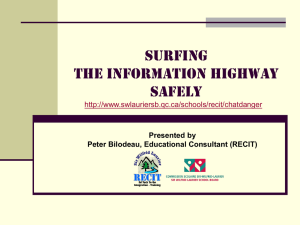 Surfing the Information highway safely