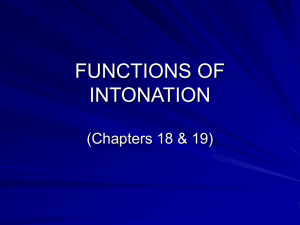 LECTURE_14_Functions of intonation