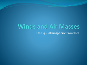Winds and Air Masses