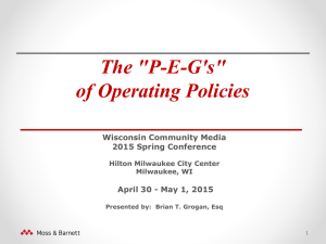 The 'P-E-G's' of Operating Policies