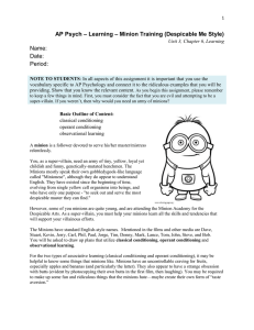 AP Psych – Ch 6 – Minion Training – Despicable Me Style