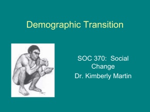 370 The Demographic Transition PowerPoint