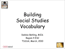 Building SS Vocabulary PPT