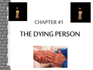 The Dying Person
